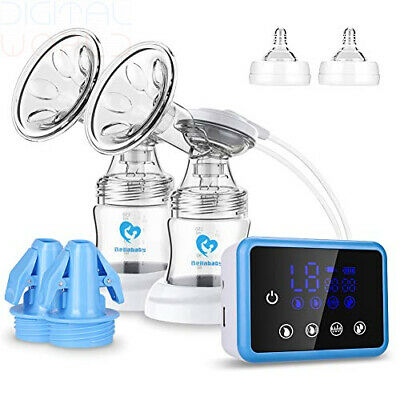Breast Pump Bellababy Dual Suction Electric Touchscreen Display + 10 Milk Bags