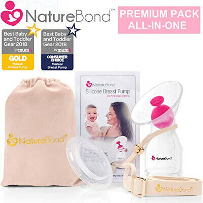 NatureBond Silicone Manual Breast Pump Milk Saver Suction Pump Stopper Cover Lid