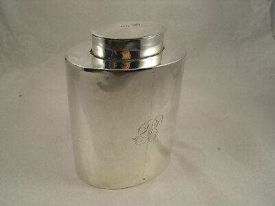 Solid Silver and gilded tea caddy, London 1898, Cohen & Charles