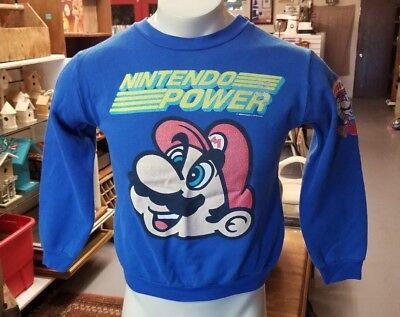 Vintage 1988 Nintendo power LARGE YOUTH SWEATSHIRT.