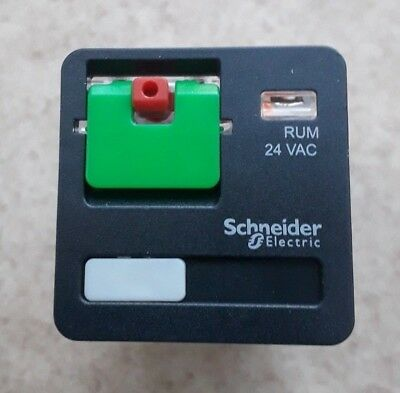 Schneider Electric 11 Pin  Relay 3CO 10A 24VAC MPN: RUMC31B7