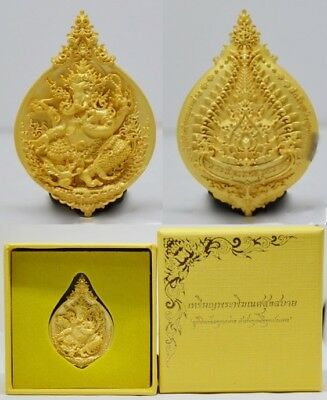 Lord Ganesha Coin Hindu Thai Art Buddha Amulet Luck Rich Wealth Success Holy