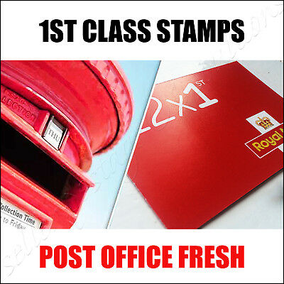 12x 1st CLASS Stamps NEW Royal Mail Postage Stamp First Book Sheet UK FAST POST!