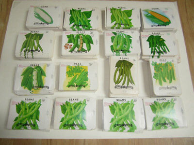 39 Old Vintage Vegetables Seed Packets ,,,,,,,,,,,...........,,,