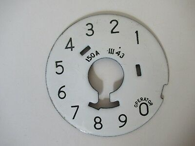 Western Electric telephone porcelain 150A dial plate 1943 Antique telephone