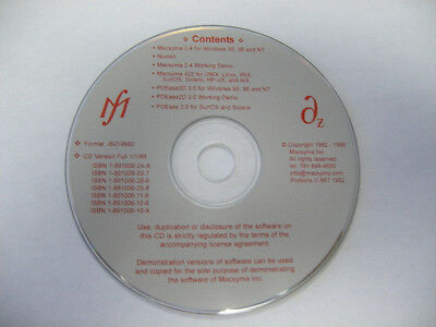 Macsyma 2.4 and PDEase CD distributed by Symbolics