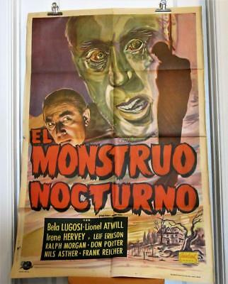NIGHT MONSTER Argentine rr 1-Sheet Poster LUGOSI ATWILL Horror MONSTRUO NOCTURNO