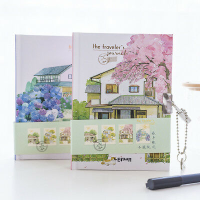 """Traveler's Journal"" 1pc Lock Box Notebook Cute Diary Stationery Gift Package"