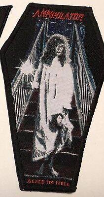 Annihilator Coffin patch Rare Alice In Hell Limited to 66