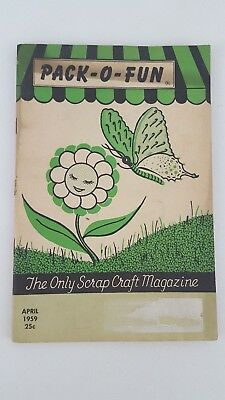 Vintage Pack-O- Fun Scrap-Craft Magazine April 1959, Crafting, Hobbie