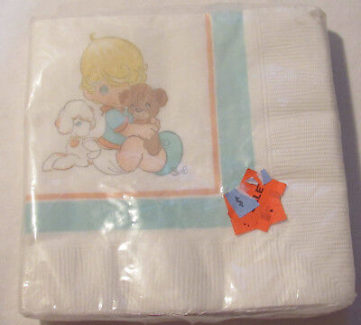 Hallmark new old stock PRECIOUS MOMENTS BABY RELIGIOUS LUNCHEON NAPKINS PARTY