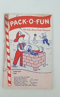 Vintage Pack-O- Fun Scrap-Craft Magazine June-July 1960, Crafting, Hobbie