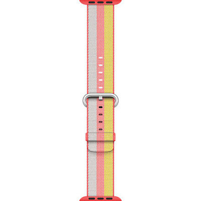 Apple Watch Woven Nylon Band (38mm, Red) Stainless Steel Buckle MPW02AM/A™