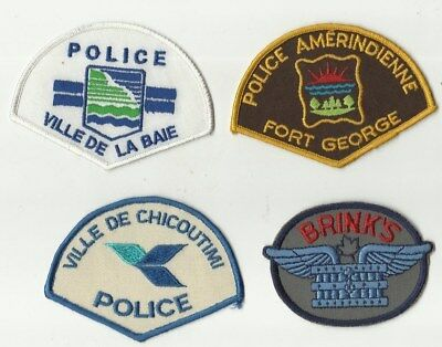 Fort George / La Baie / Brinks / Chicoutimi (QUEBEC) Police Patches