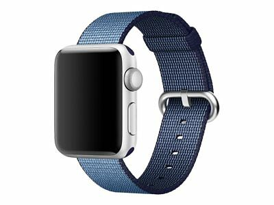 Apple Watch Woven Nylon Band 38mm Navy/Tahoe Blue Stainless St Buckle MP222AM/A™