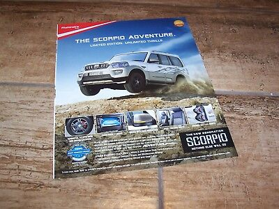 Publicité magazine /  Advertising AD MAHINDRA Scorpio 2017 //
