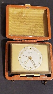 WORKING KIENZLE TRAVEL ALARM CLOCK 7 JEWELS Made In Germany