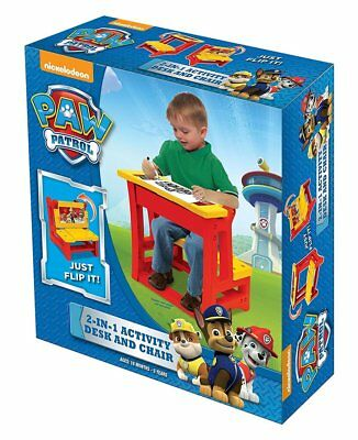 Paw Patrol 2-in-1 Activity Desk and Chair Toy (New) FREE SHIPPING