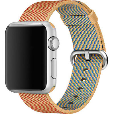 Apple Watch Woven Nylon Band 38mm Gold/Red with StainlessSteel Buckle MM9R2AM/A™