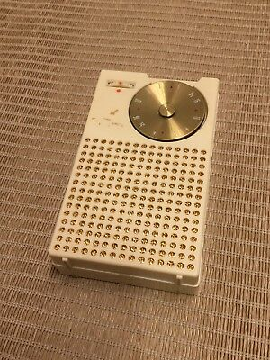 Regency TR-1 Transistor Radio With Leather Case Cream