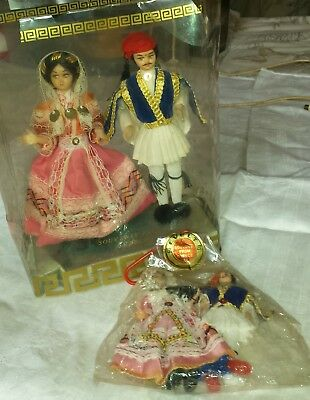 vintage souvenir dolls from greece there are 4 2 lar