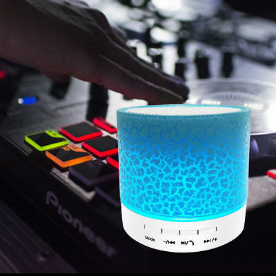 Luminous Lights Rechargeable Wireless Bluetooth Speaker Portable Mini Super Bass