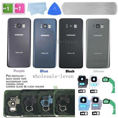 OEM For Samsung Galaxy S8 / S8 Plus Back Glass Cover IP68 / Camera Lens / Tape