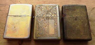 3 Shed Find Zippo Lighters 1996, 1997 And 1988