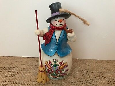 Jim Shore Heartwood CreeK Snowman with a Broom 4053702
