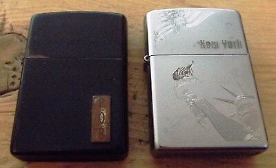 1994 Black And 2010 New York Statue Of Liberty Zippo Lighters