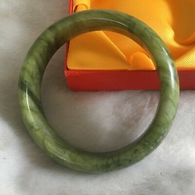 62mm GOOD Beautiful Natural huanglong Jade Chinese Bangle Bracelet Aaaa