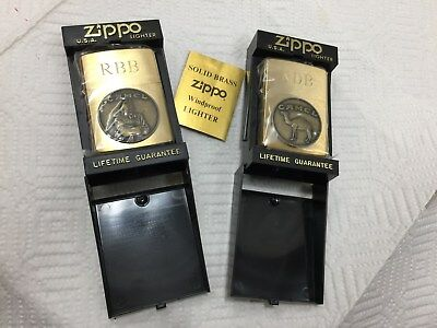 """2 Zippo gold """"Joe Camel"""" lighters New never used or lit no fluid put in ever NIB"""
