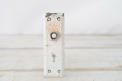 Antique./Vintage Door Plate Backplate White Chippy Hardware #6