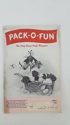 Vintage Pack-O- Fun Scrap-Craft Magazine May 1961, Crafting, Hobbie