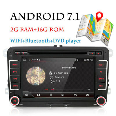 Android 7.1 Car DVD Radio GPS Sat Nav WIFI for VW Golf Škoda PASSAT B6 TOURAN