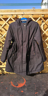 Warm lined - Black Parka Maternity Coat Size 12 - La Redoute