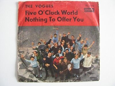"""The Vogues 7"""" Five O Clock World Groupcover Cover only"""