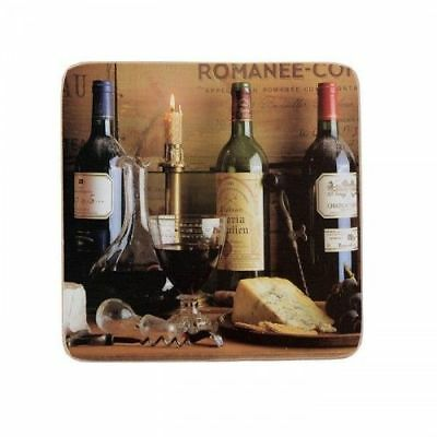 Creative Tops Premium Square Coasters, Set of 6 - Vintage Wine