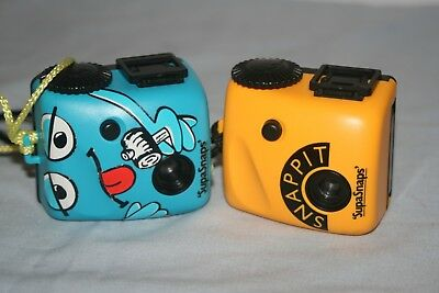 2x Supasnaps Snappit Vintage Fim Cameras -Very Collectable -Good Condition -Rare