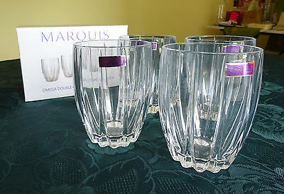 4 Gläser Marquis by Waterford Omega Double Old Fashioned Glassware 4er-Set Glas