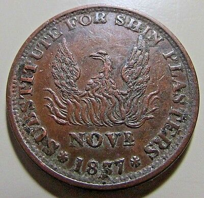"1837 Hard Times Token - ""Millions For Defence--Not One Cent For Tribute"""