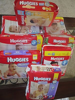 Disney Huggies, Snug& Dry Diapers,Size Newborn,1,2,3,4,5,Value Pack 1,PICK SIZE