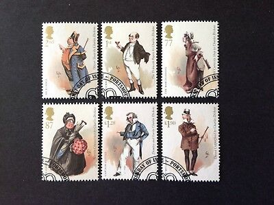 Gb 2012 Birth Bicentenary Of Charles Dickens Full Set Very Fine Used
