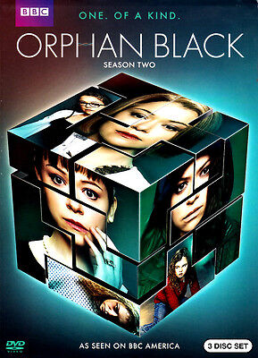 Orphan Black BBC ~ Complete 2nd Second Season 2 Two ~ BRAND NEW 3-DISC DVD SET!