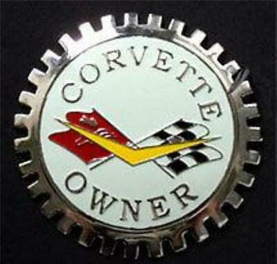 Chevrolet Corvette Owner Automobile Grille Badge Emblem
