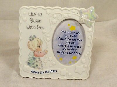 New Precious Moments Wishes Begin with You Photo Picture Frame