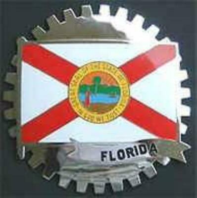Florida State Flag Automobile Grille Badge Emblem