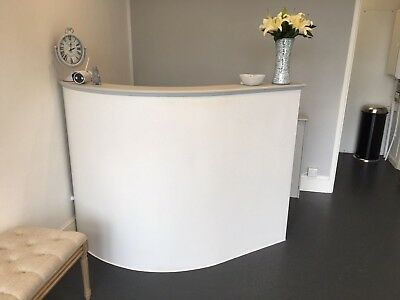 Shaped reception desk, mdf salon hairdressing reception desk shabby chic