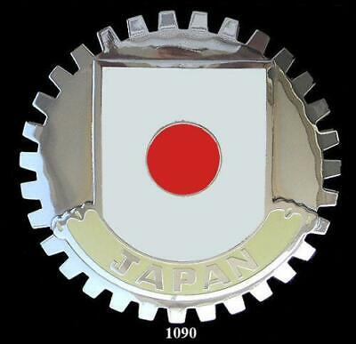 Japanese Flag Automobile Grille Badge Emblem - Flag Of Japan Badge