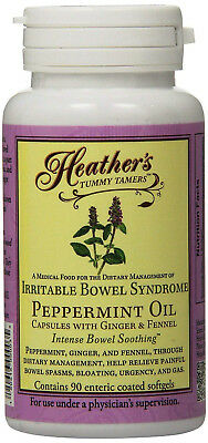 Heather's Tummy Tamers Peppermint Oil Capsules (90 per Bottle) for IBS